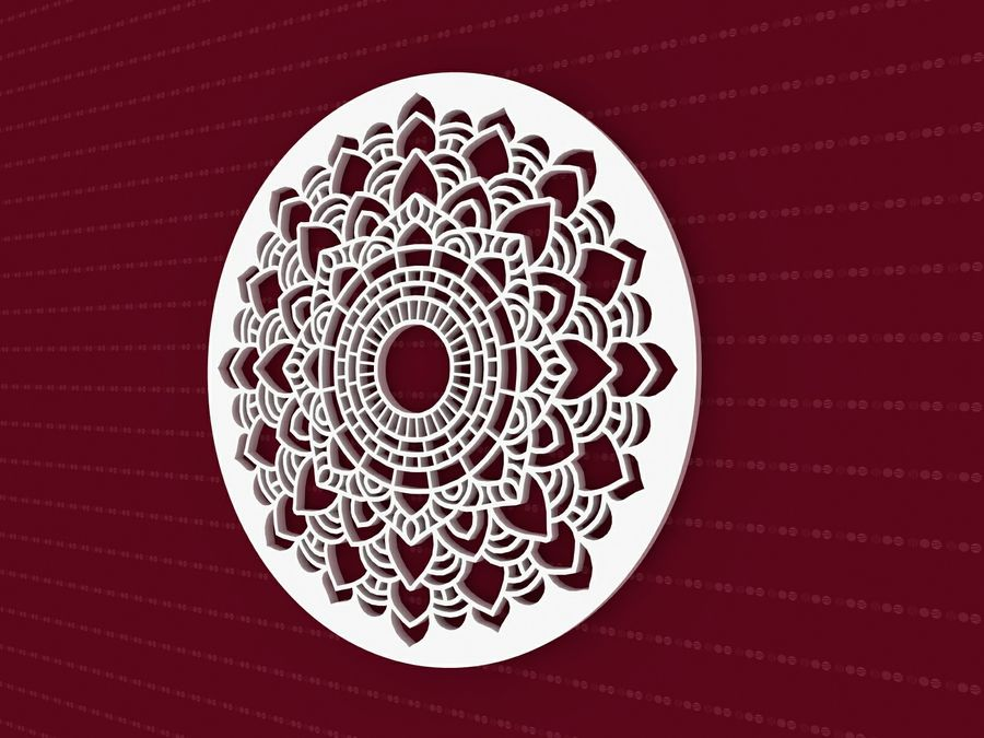 Mandala royalty-free 3d model - Preview no. 4