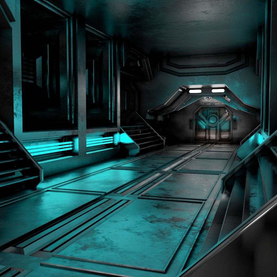 sci-fi Interior royalty-free 3d model - Preview no. 4