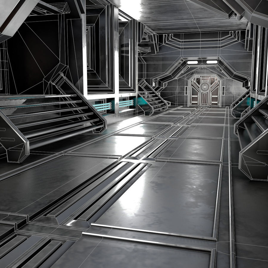 sci-fi Interior royalty-free 3d model - Preview no. 3
