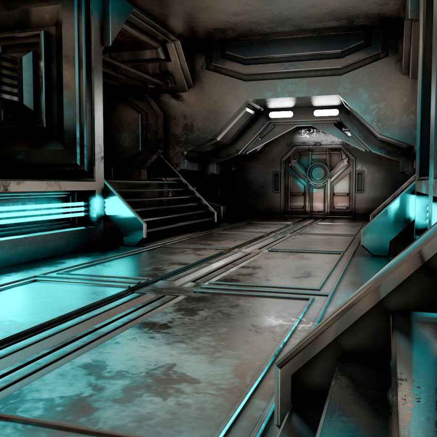 sci-fi Interior royalty-free 3d model - Preview no. 12