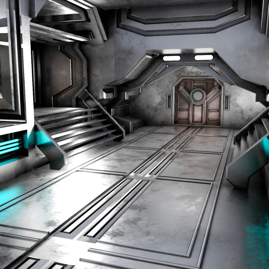 sci-fi Interior royalty-free 3d model - Preview no. 5