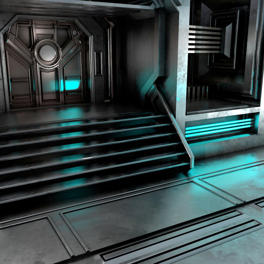 sci-fi Interior royalty-free 3d model - Preview no. 9