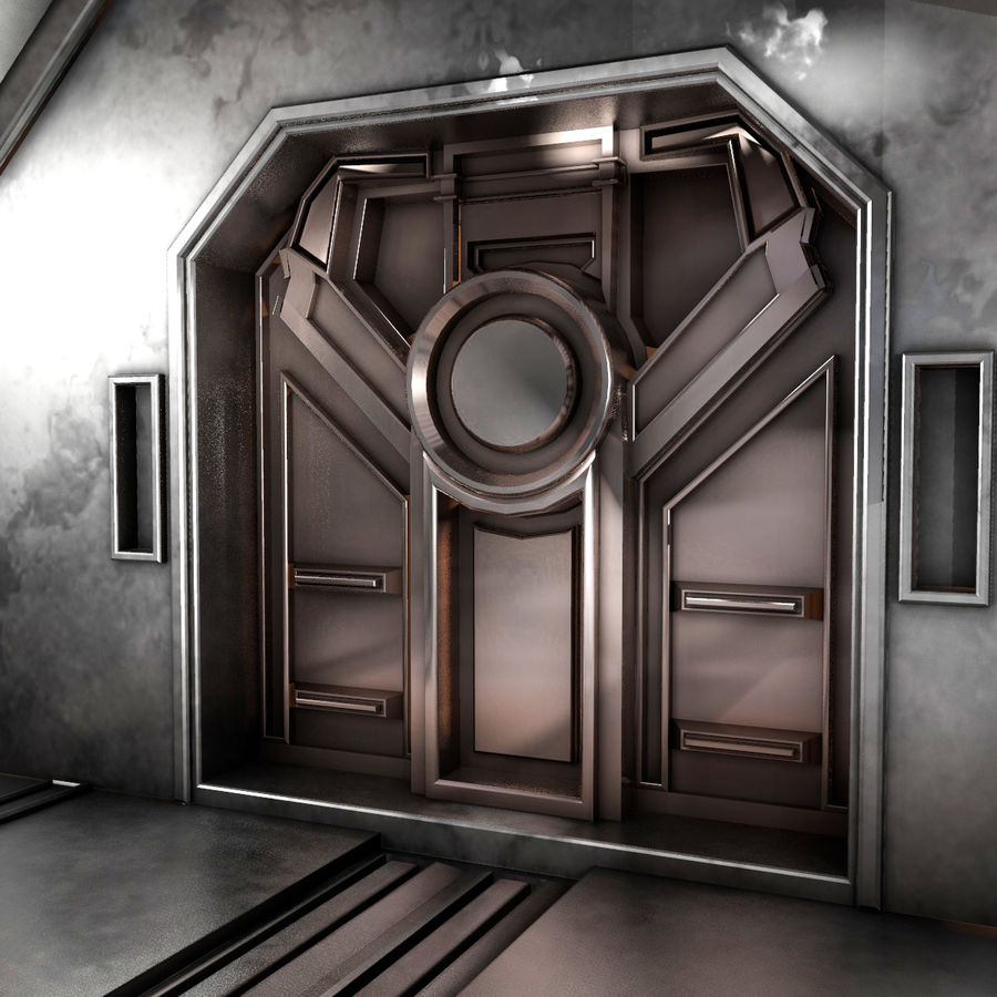 sci-fi Interior royalty-free 3d model - Preview no. 8