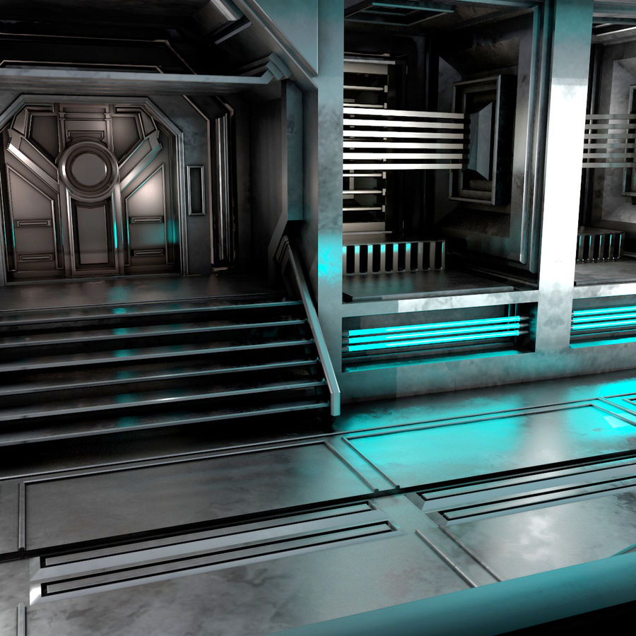 sci-fi Interior royalty-free 3d model - Preview no. 11
