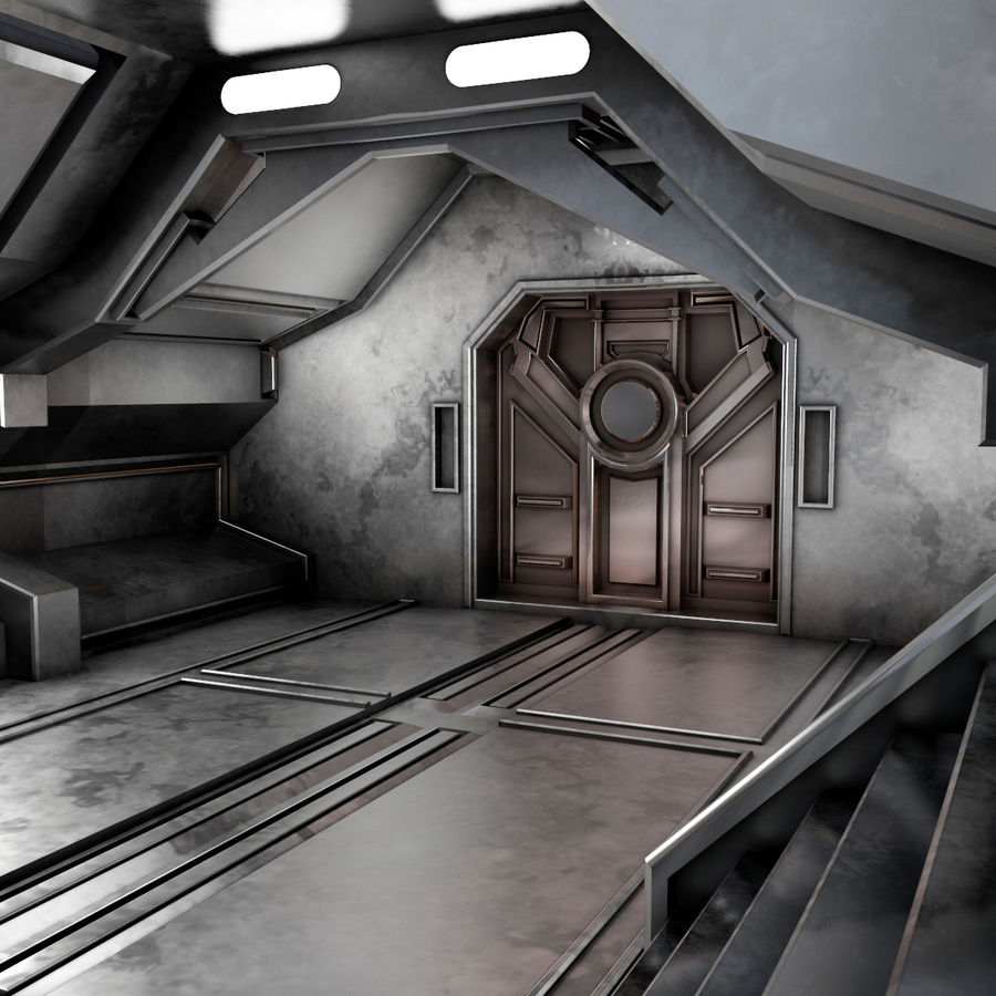 sci-fi Interior royalty-free 3d model - Preview no. 10