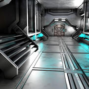 Science-Fiction-Interieur 3d model