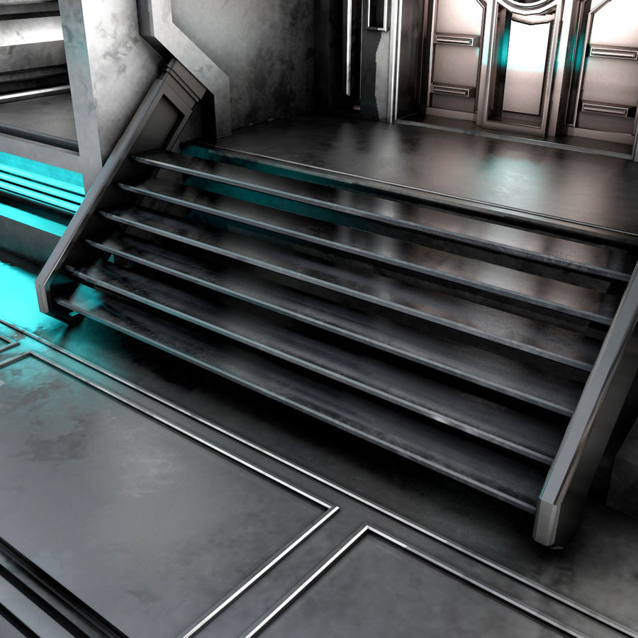 sci-fi Interior royalty-free 3d model - Preview no. 7