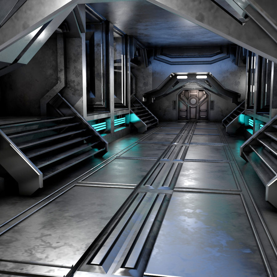sci-fi Interior royalty-free 3d model - Preview no. 2