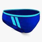 泳装男士蓝色 3d model