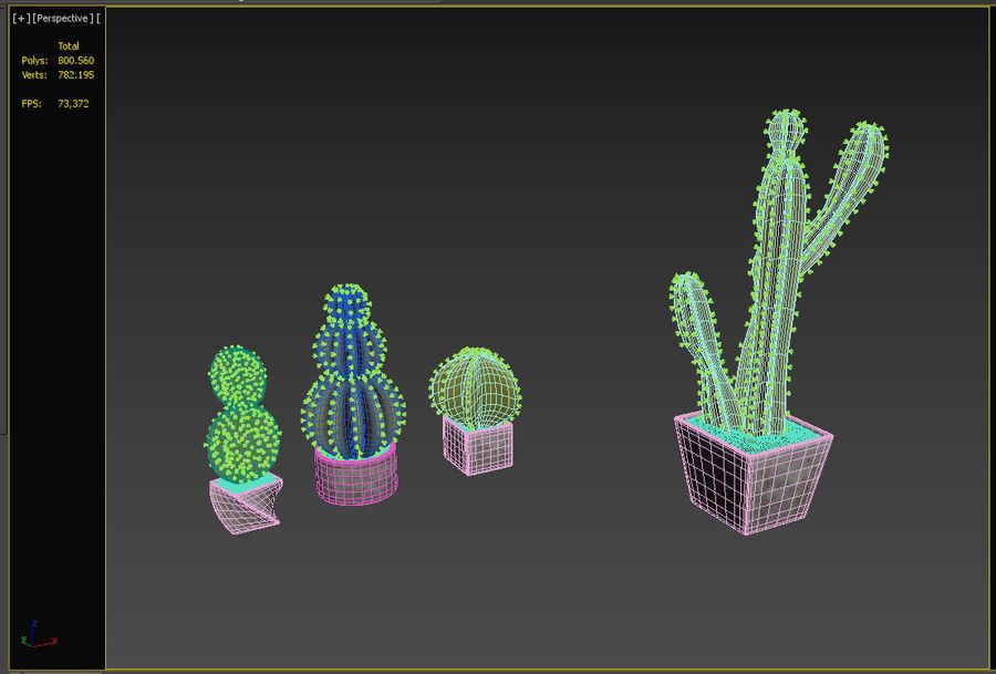 Rośliny kaktusowe royalty-free 3d model - Preview no. 5