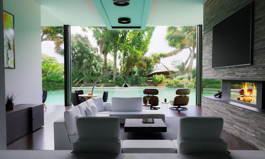 Oturma odası royalty-free 3d model - Preview no. 2