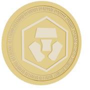 クリプトコムゴールドコイン 3d model