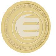 enjin coin gold coin 3d model
