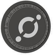 moeda de ícone preto 3d model