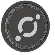 icon black coin 3d model