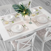 宜家餐桌椅 3d model