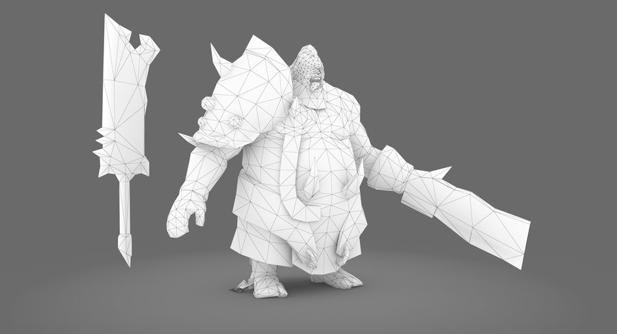 Ancient Warrior royalty-free 3d model - Preview no. 8