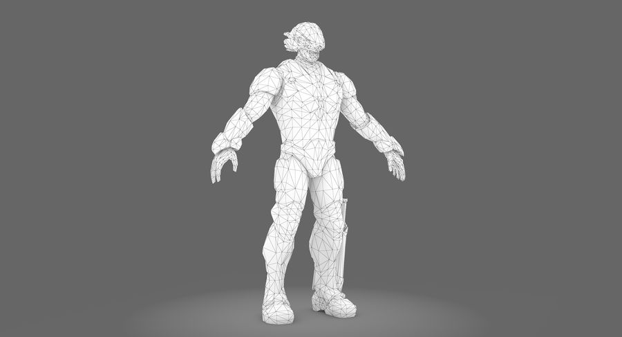 科幻士兵A型 royalty-free 3d model - Preview no. 2