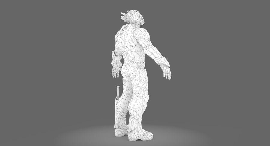 科幻士兵A型 royalty-free 3d model - Preview no. 3
