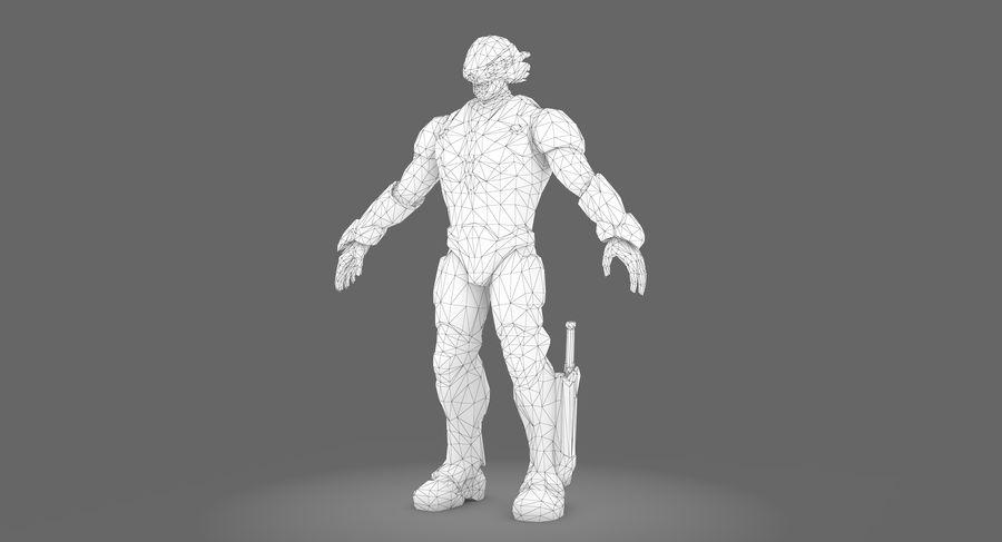 科幻士兵A型 royalty-free 3d model - Preview no. 7