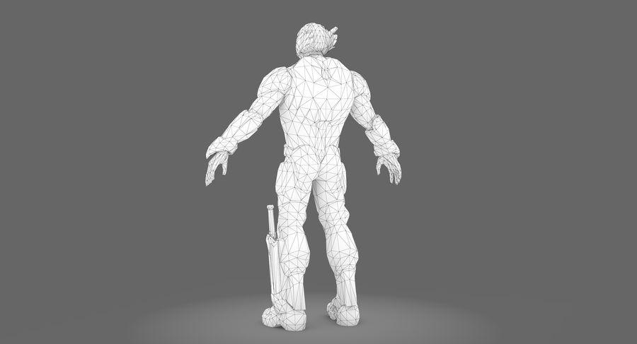 科幻士兵A型 royalty-free 3d model - Preview no. 4