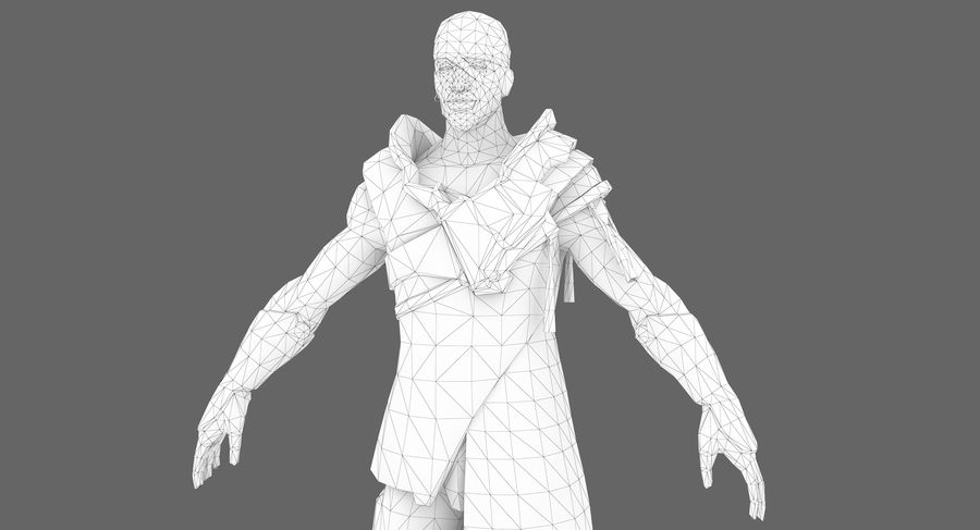 Sci-fi Warrior royalty-free 3d model - Preview no. 14