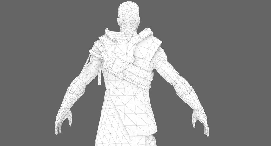 Sci-fi Warrior royalty-free 3d model - Preview no. 3