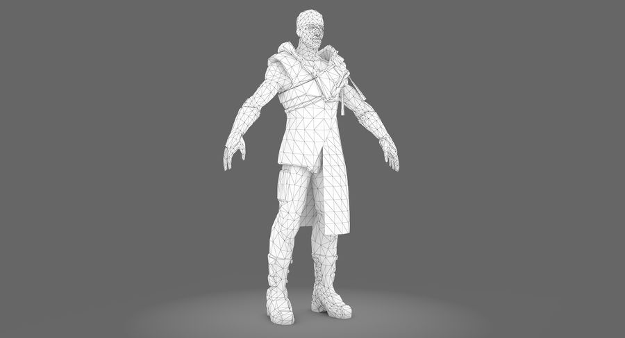 Sci-fi Warrior royalty-free 3d model - Preview no. 10