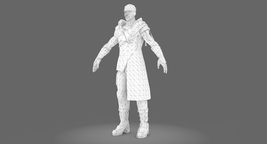 Sci-fi Warrior royalty-free 3d model - Preview no. 9