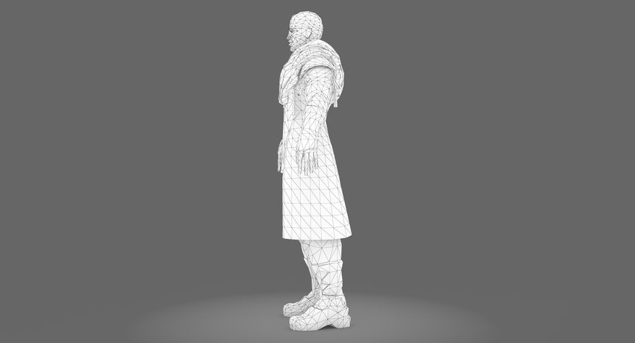 Sci-fi Warrior royalty-free 3d model - Preview no. 13