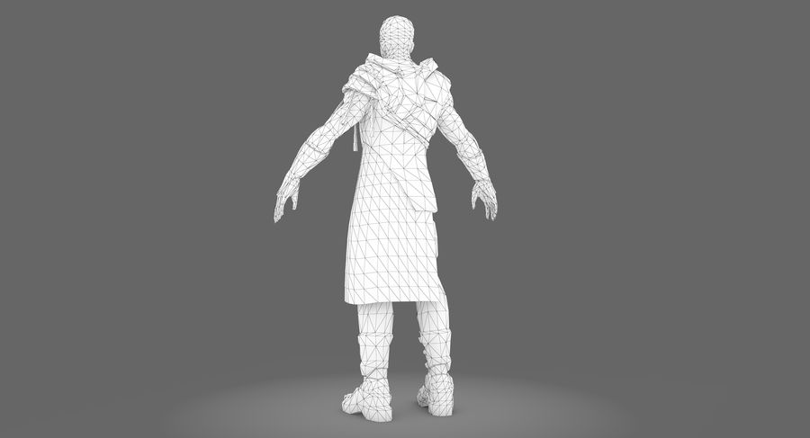 Sci-fi Warrior royalty-free 3d model - Preview no. 12