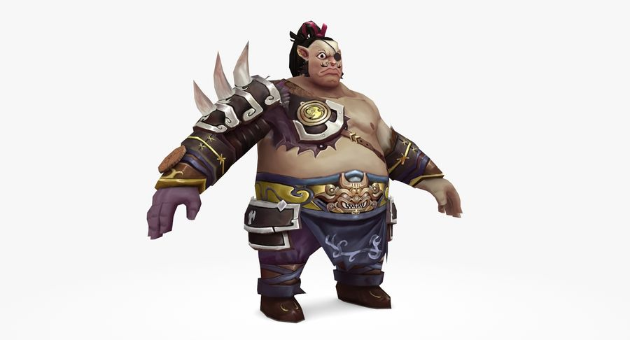Warrior Fat royalty-free 3d model - Preview no. 3