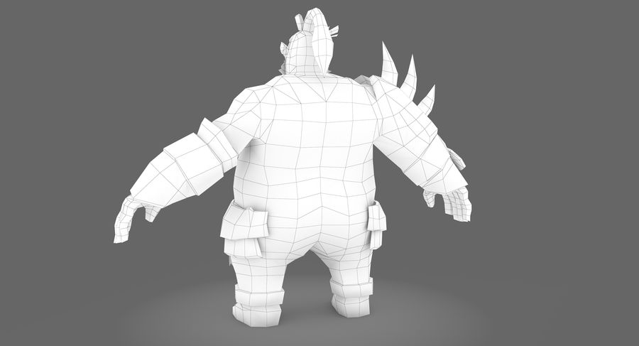 Warrior Fat royalty-free 3d model - Preview no. 10