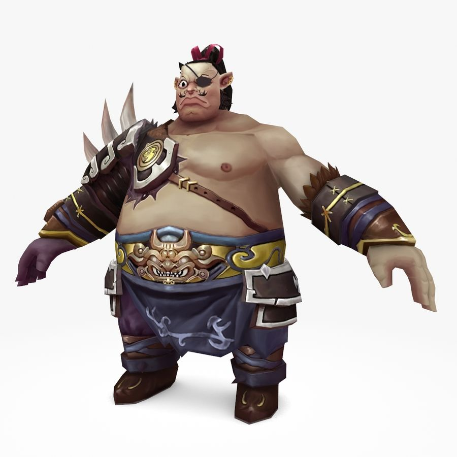 Warrior Fat royalty-free 3d model - Preview no. 1