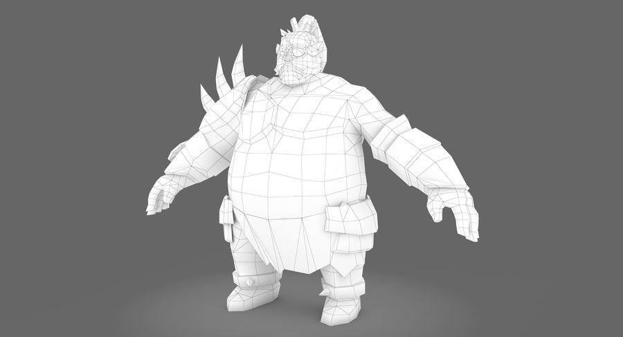 Warrior Fat royalty-free 3d model - Preview no. 7