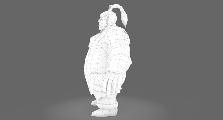Warrior Fat royalty-free 3d model - Preview no. 11