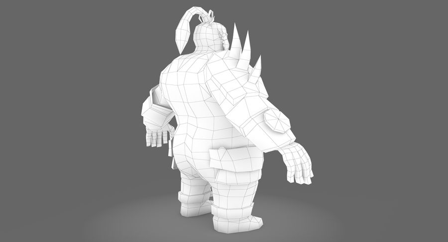Warrior Fat royalty-free 3d model - Preview no. 9