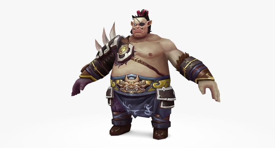 Warrior Fat royalty-free 3d model - Preview no. 2