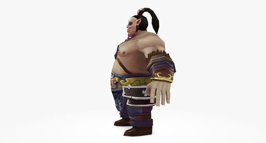 Warrior Fat royalty-free 3d model - Preview no. 6