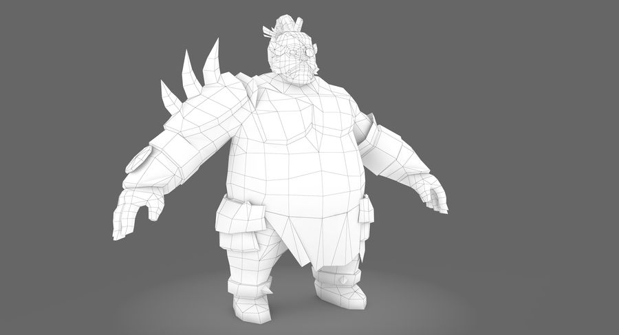 Warrior Fat royalty-free 3d model - Preview no. 8