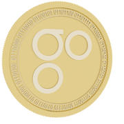 omisego cold coin 3d model