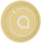 siacoin gold coin 3d model