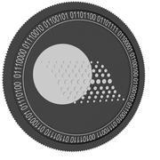 moeda preta thorecoin 3d model