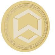 wanchain cold coin 3d model