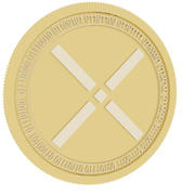 pundi x gold coin 3d model