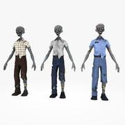 Зомби 3d model