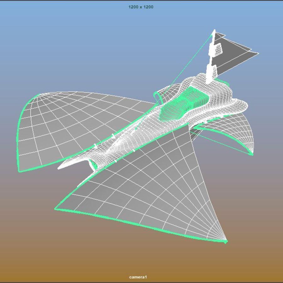 nave espacial de ciencia ficción royalty-free modelo 3d - Preview no. 9