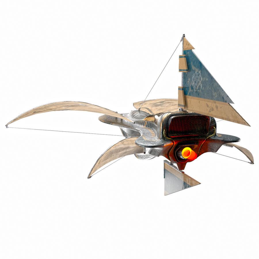 nave espacial de ciencia ficción royalty-free modelo 3d - Preview no. 4