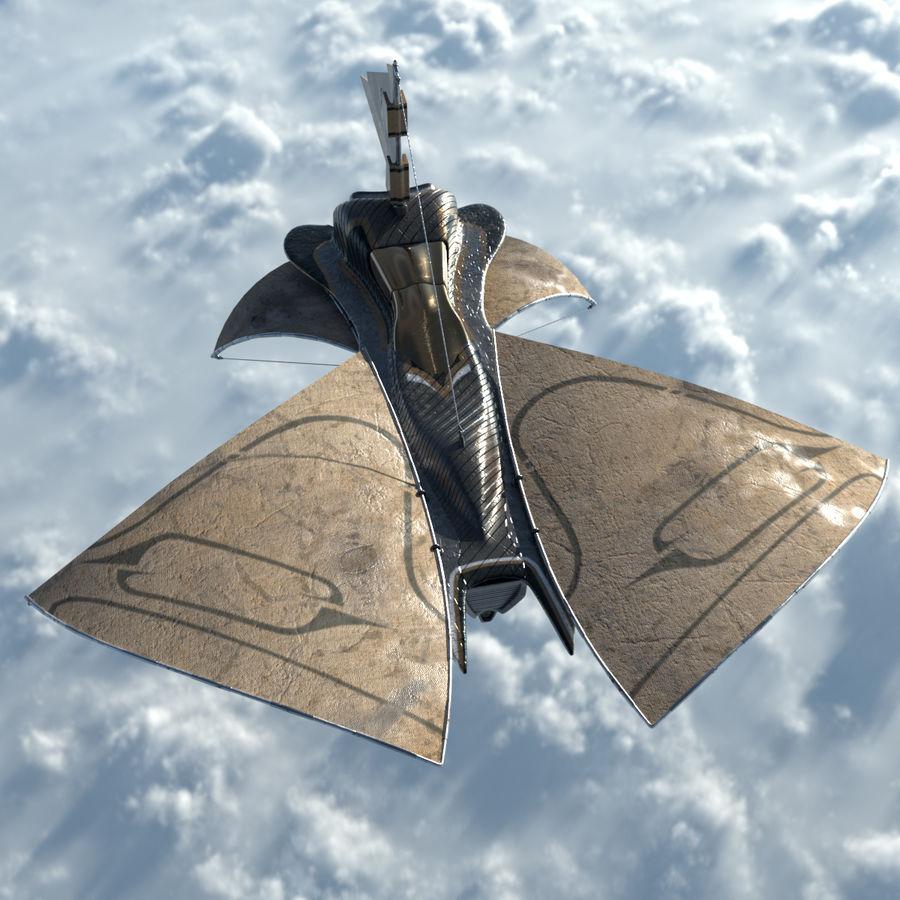 nave espacial de ciencia ficción royalty-free modelo 3d - Preview no. 6