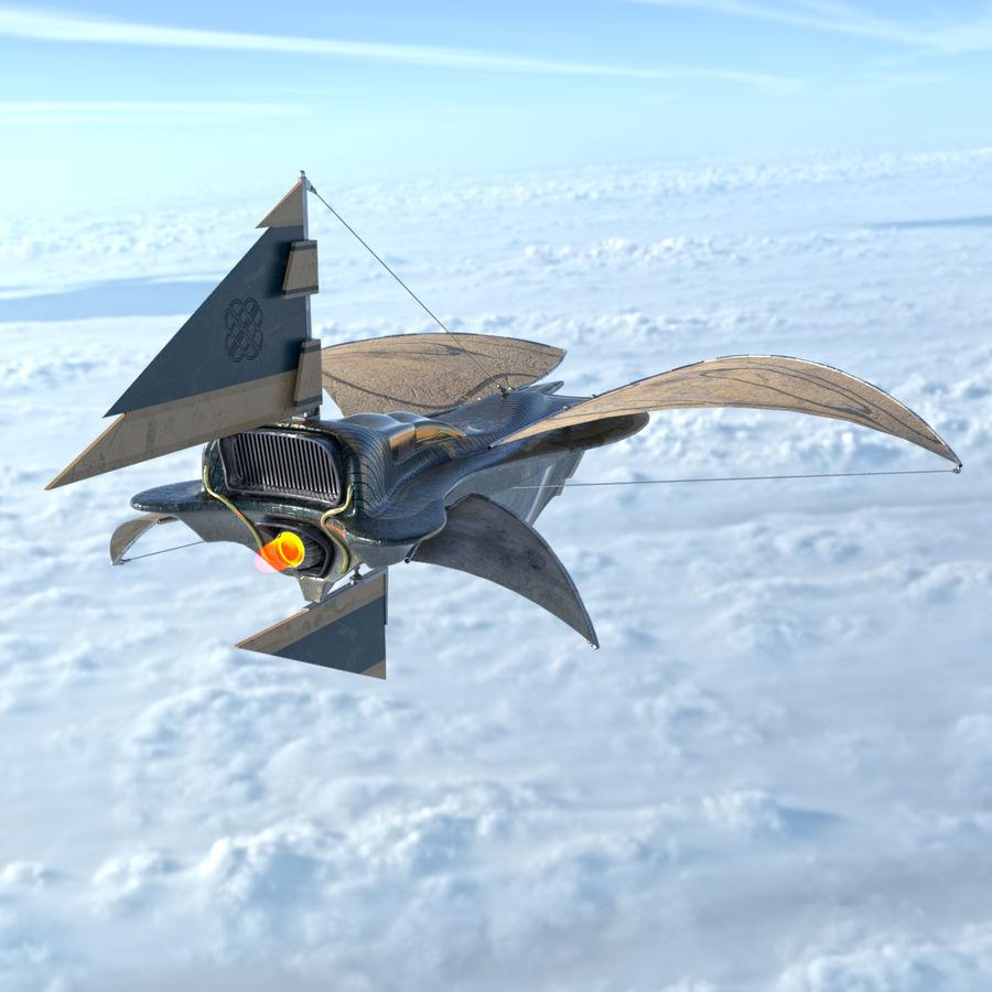 nave espacial de ciencia ficción royalty-free modelo 3d - Preview no. 7